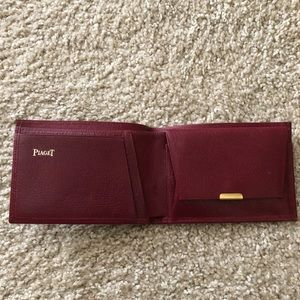 PIAGET red leather wallet